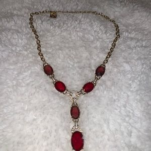 Red and Gold Anne Klein Necklace